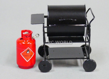 RC 1/10 Scale Accessories METAL BARBECUE BBQ GRILL Outdoor Camping W/ PROPANE b