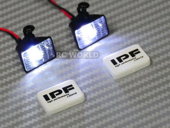 RC Scale Accessories LED LIGHT PODS Roof Lights IPF Square (2 pcs)