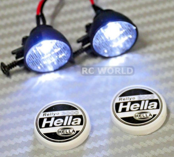 RC Scale Accessories LED LIGHT PODS Roof Lights HELLA Round (2 pcs)