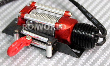 RC Scale Truck ELECTRIC WINCH W/ SWITCH Alloy Metal