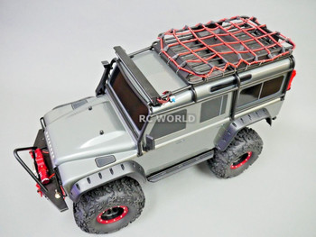 Traxxas TRX-4 Scale ROOF Accessories LARGE BUNGEE CARGO NET For Roof Rack RED