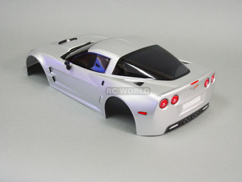 1/10 RC Car BODY Shell CHEVY CORVETTE 190mm SILVER -FINISHED-