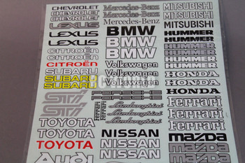 RC Car Truck RACING Drift DECALS STICKERS Sheet Logos Sponsors *NEW*