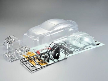 1/10 RC Car BODY Shell LEXUS RCF 190mm -CLEAR- UNPAINTED