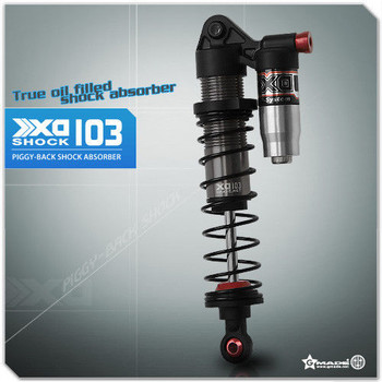 Gmade 1/10 TRUCK Shocks SUSPENSION Piggy Back XD Aluminum 103MM #gm21007