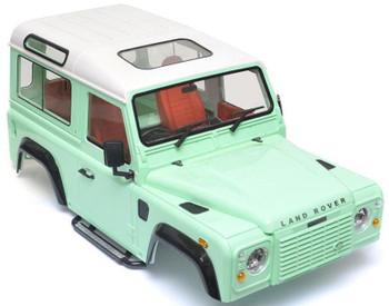RC 1/10 Land Rover DEFENDER 90 W/ Interior D90 Scale Truck Hard Body