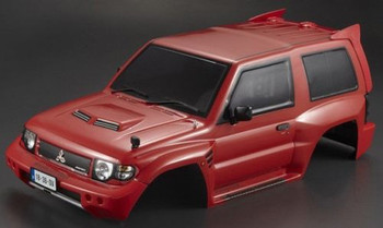 RC Truck Body Shell 1/10 MITSUBISHI PAJERO EVO -PAINTED- RED