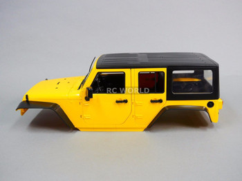 RC Scale Truck Body Shell 1/10 JEEP WRANGLER RUBICON 4 Door Hard Body YELLOW