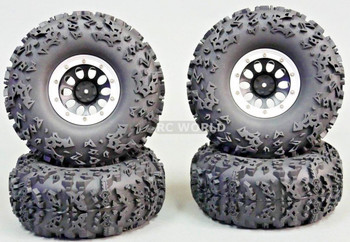 "Axial JEEP CHEROKEE 2.2 Beadlock CRAWLER Wheels & TIres 140mm 5.5"" + LIFT KIT"