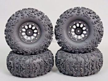 2.2 Truck Rims Wheels Rock CRAWLER Beadlock Wheels -Set Of 4- Black