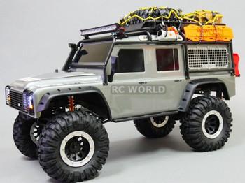 For Traxxas TRX-4 Rock CRAWLER Beadlock Wheels & TIres 130mm -Set Of 4- SILVER