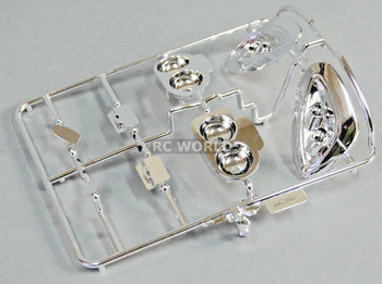 1/10 RC LIGHT BUCKETS For CHEVY CORVETTE Bodies 190mm Chrome Plated Front + Rear