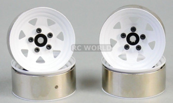 RC 1/10 Scale METAL STEEL STAMPED Truck Rims WheelS 1.9 (4 RIMS) WHITE