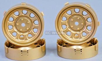 Tetsujin SUNFLOWER RC Car 1/10 WHEELS GOLD Adjustable Offset 3-6-9mm -4 RIMS