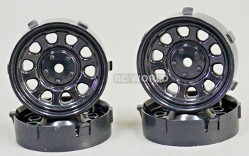 Tetsujin SUNFLOWER RC Car 1/10 WHEELS BLACK Adjustable Offset 3-6-9mm -4 RIMS