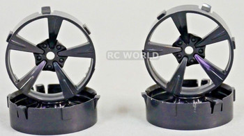 Tetsujin Mandarin RC Car 1/10 Wheels BLACK Adjustable Offset 3-6-9mm -4 RIMS