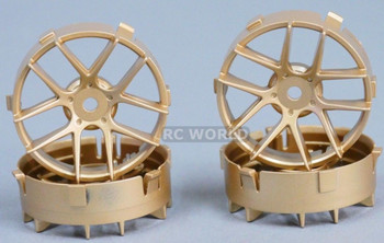 Tetsujin RC Car Wheels Disc Adjustable Offset 3/6/9mm -Jasmine Gold -4 pcs