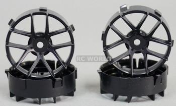 Tetsujin RC Car Wheels Disc Adjustable Offset 3/6/9mm -Jasmine Black -4 pcs