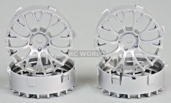 Tetsujin DAISY RC Car 1/10 Wheels SILVER Adjustable Offset 3-6-9mm -4 RIMS