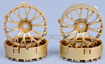 Tetsujin DAISY RC Car 1/10 Wheels GOLD Adjustable Offset 3-6-9mm -4 RIMS