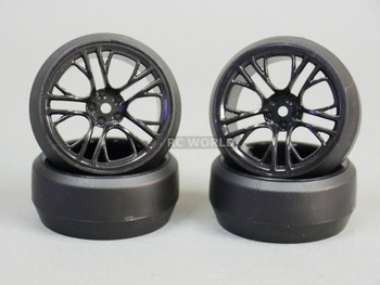 RC 1/10 DRIFT WHEELS Package 0 Degree 3MM Offset BLACK