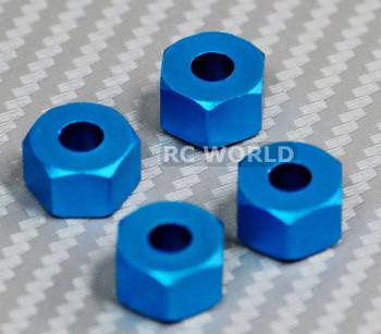 RC 1/10 Scale Anodized Aluminum 7MM WHEEL 12MM HUB Spacer -4 pcs- BLUE