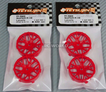 RC Car 1/10  WHEELS Adjustable Offset  3mm-6mm-9mm -LYCORIS RED -4 RIM
