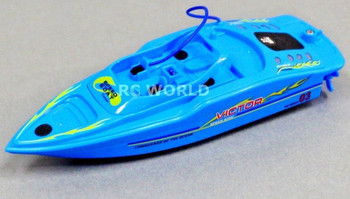 Remote Control RC Micro POWER Racing SPEED BOAT MINI RC Boat BLUE -