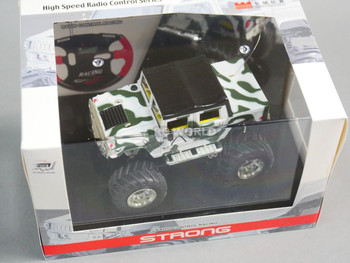 RC 1/43 Radio Control RC Micro Monster Truck HUMMER  w/ LED Lights WHITE CAMO