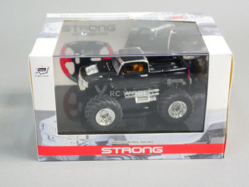 RC 1/43 Radio Control RC Micro Monster Truck HUMMER  w/ LED Lights SILVER
