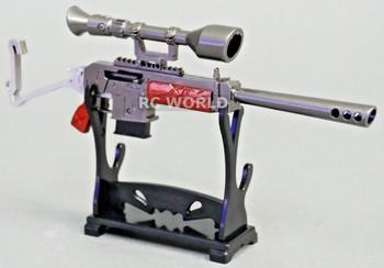 1/8 SEMI-AUTO SNIPER RIFLE w/ SCOPE GUN  Metal  Weapon