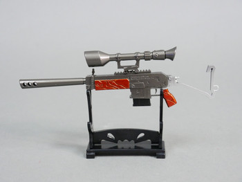 1/8 SEMI-AUTO SNIPER RIFLE w/ SCOPE GUN  Metal  Weapon