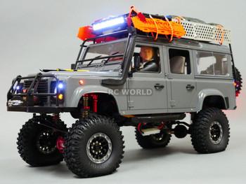 For Axial SCX10 Jeep METAL PiggyBack SUSPENSION SHOCKS 120MM BLUE/ GOLD 4 pcs