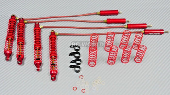 Traxxas TRX-4 METAL PiggyBack SUSPENSION SHOCKS 110MM RED