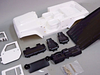RC Scale Truck Body Shell 1/10 JEEP WRANGLER RUBICON Hard Body w/ INTERIOR