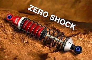 RC 1/10 TRUCK Suspension ZERO SHOCK 104MM SHOCKS Aluminum RED  #gm20201