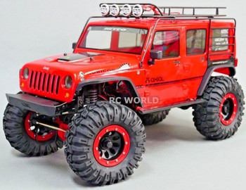 For Axial JEEP Wrangler METAL CAGE ROOF RACK Cage W/ LED PODS HELLA