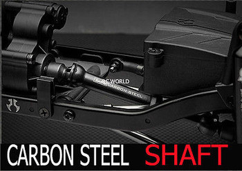 For Axial WRAITH Hardened CARBON STEEL DRIVE SHAFTS (2) Rock Crawling Axles