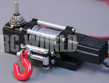 RC Scale Truck ELECTRIC WINCH W/ SWITCH Alloy Metal Rock Crawler D90 For SCX10