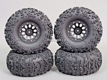 2.2 Truck Rims Wheels Rock CRAWLER Beadlock Wheels -Set Of 4- GREEN