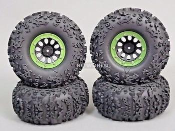 2.2 Beadlock Truck Rims  Wheels -Set Of 4- GREEN