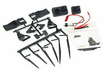RC Scale Accessories MOTORIZED Windshield WIPERS BLADE System