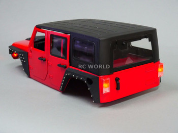 RC Scale JEEP Body Shell V3 FENDERS For WRANGLER RUBICON Hard Body V3