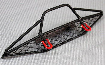 RC Truck FRONT BULL NOSE All METAL BUMPER w/ Hooks For Defender 90, Axial
