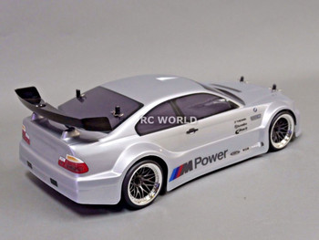 Custom RC 1/10 Drift BMW E46 M3 GT AWD Belt CAR Silver RTR