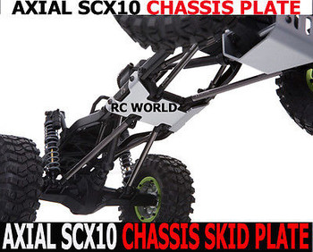 For Axial SCX10 METAL SKID PLATE For CHASSIS Rock Crawling Chassis Plate *NEW*