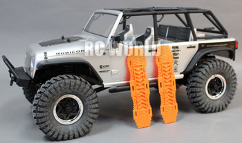 For AXIAL SCX10 Jeep Deadbolt Scale RECOVERY RAMPS Extraction LADDER Orange