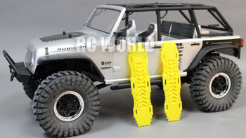 For AXIAL SCX10 Jeep Deadbolt Scale RECOVERY RAMPS Extraction LADDER Yellow