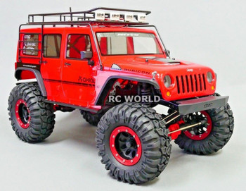 For Axial JEEP WRANGLER 2.2 Beadlock CRAWLER Wheels & TIres 130mm -RED-