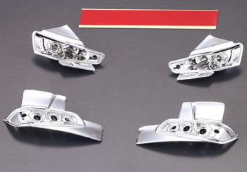 1/10 RC Car Chrome LIGHT BUCKETS For MITSUBISHI EVO 10 Evolution